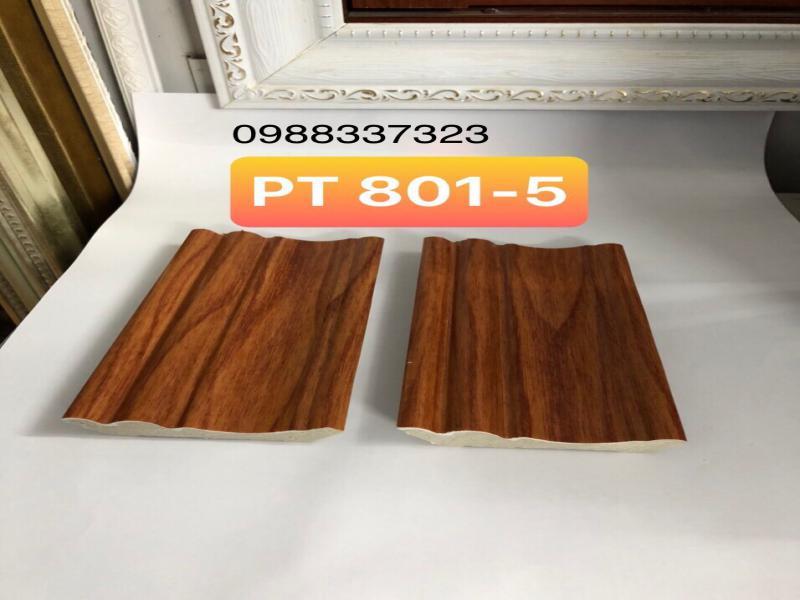 phào trần nhựa vân gỗ, phào cổ trần giá rẻ, mẫu phào trần cao 8cm