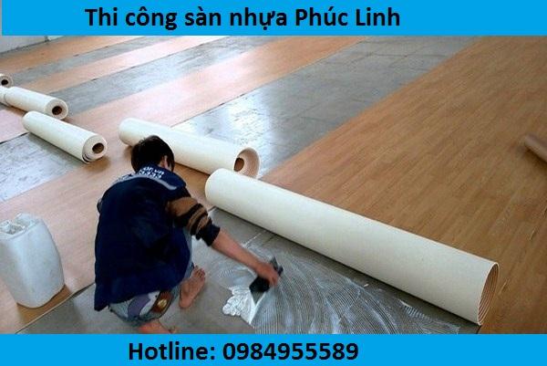 thi cong san nhua ha noi, cách thi công sàn nhựa rẻ,