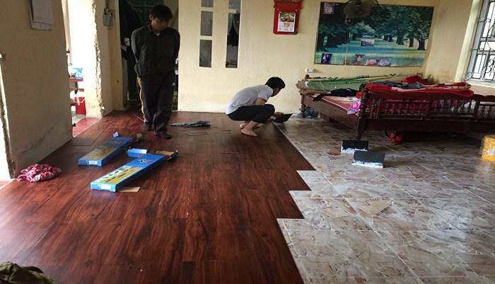 Lắp đặt sàn nhựa vinyl vân gỗ, thanh ly sàn nhựa giá rẻ, giá sàn nhựa vinyl tại hà nội,