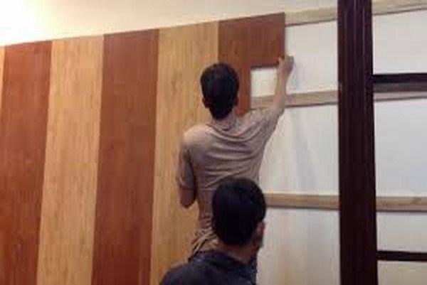 báo giá ốp tường gỗ công nghiệp, thi công vách gỗ công nghiệp, ốp trần nhựa giả giỗ,