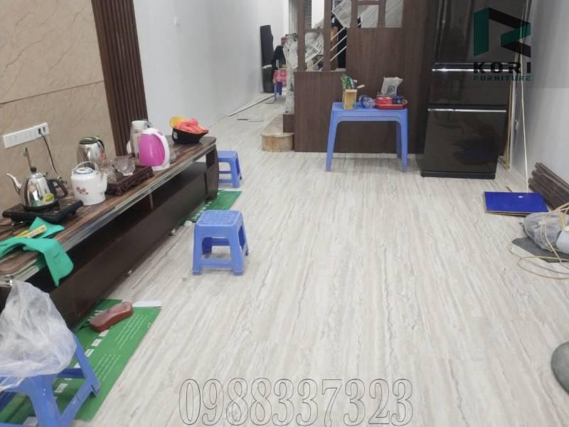 sàn nhựa hèm khoá spc, thi công sàn nhựa hèm khoá hàn quốc, sàn nhựa spc vân gỗ,